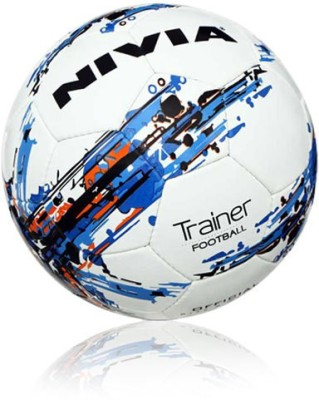 Nivia Trainer Football -   Size: 4,  Diameter: 2.5 cm(Pack of 1, White)