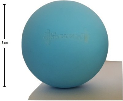 The SweatShop Round Blue Massage Ball - Size- 6, Diameter- 6 cm