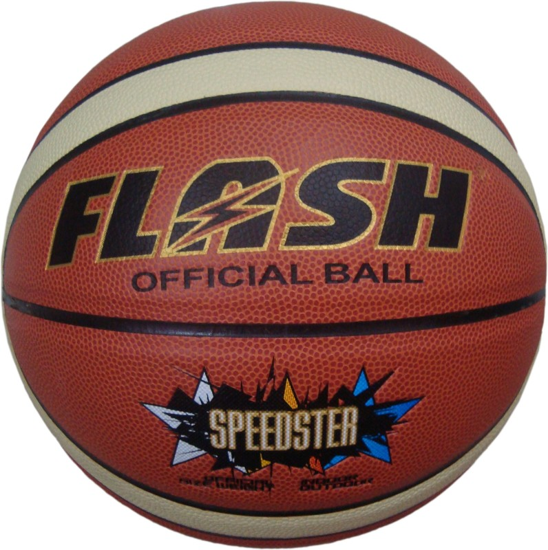 Flash TOURNAMENT NO 7. Basketball -   Size: 7,  Diameter: 25 cm(Pack of 1, Multicolor)