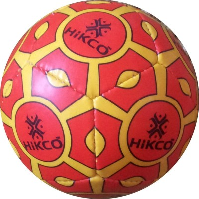 Hikco Mini 12Panel Football - Size: 1, Diameter: 15 cm(Pack of 1, Yellow, Red, Black)