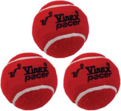 Vinex Tennis - Pacer (Pack of 3 Pcs) Cricket Ball -   Size: 5,  Diameter: 4.5 cm