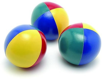 Sahni Sports Pro (Set of 3) Juggling Ball -   Size: 6,  Diameter: 7 cm(Pack of 3, Multicolor)