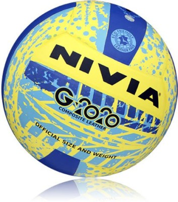 Nivia G-2020 Volleyball -   Size: 4,  Diameter: 2.5 cm(Pack of 1, Yellow, Blue)