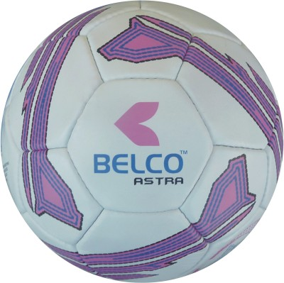 Belco Astra 3 Football - Size: 5, Diameter: 22 cm(Pack of 1, Black, White, Pink)