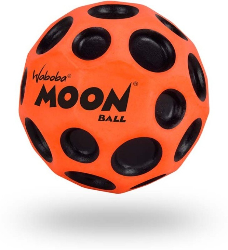 Waboba Moon Neon Jumping Ball -   Size: 63 mm,  Diameter: 6.3 cm(Pack of 1, Black, Orange)