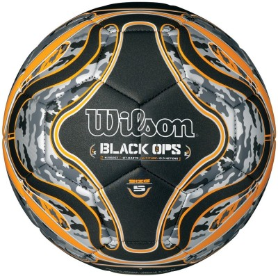 Wilson Wilson Black Ops Soccer Ball Foosball -   Size: 5,  Diameter: 23 cm(Pack of 1, Black)