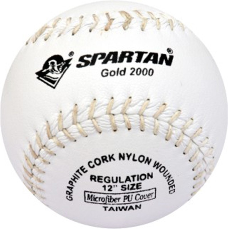 Spartan Gold 2000 Baseball -   Size: 5,  Diameter: 2.5 cm(Pack of 1, White)