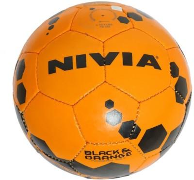 Nivia Black & Orange Football -   Size: 5,  Diameter: 22.5 cm