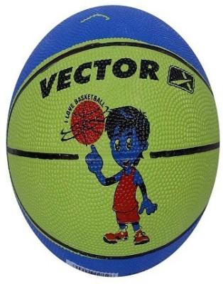 Vector X BB-TOON-BLUE-GREEN Basketball - Size: 3, Diameter: 57 cm(Pack of 1, Blue, Green)