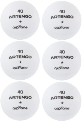 Artengo FB800 Ping Pong Ball -   Size: 4,  Diameter: 4 cm(Pack of 6, White)