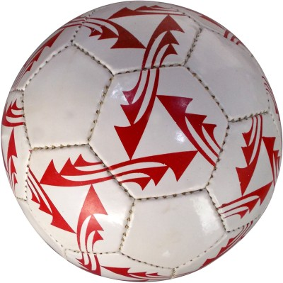 Ip Red and white Football -   Size: 5,  Diameter: 2.5 cm