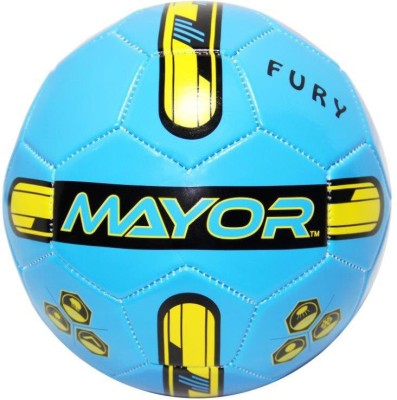 Mayor Fury Football - Size: 3(Pack of 1, Blue, Green)