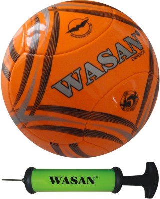 Wasan Emperor With Free Pump Football - Size: 5(Pack of 1, Orange)