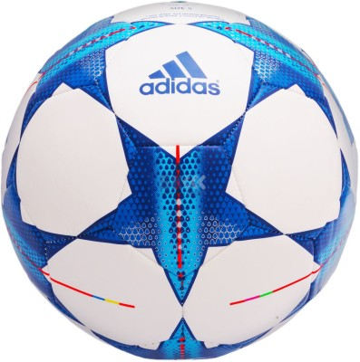 Adidas Finale 15 Football - Size- 5, Diameter- 22 cm(Pack of 1, White, Blue)