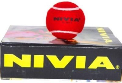 Nivia Heavy Weight Red Cricket Tennis Ball -   Size: Standard,  Diameter: 6.5 cm