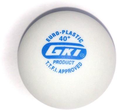 GKI Euro Plastic 2 Star Ping Pong Ball - Size: 40mm, Diameter: 4 cm(Pack of 12, White)