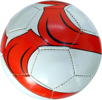 Ip RED WITH BLACK Football -   Size: 5,  Diameter: 2.5 cm