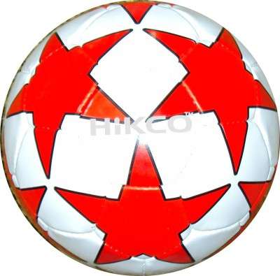 Hikco Star Red Football - Size: 5, Diameter: 22 cm(Pack of 1, White, Red, Black)