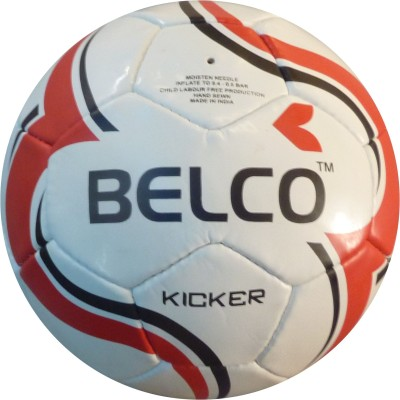 Belco Kicker 1 Football - Size: 5, Diameter: 22 cm(Pack of 1, Black, White, Orange)