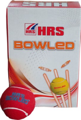 HRS Bowled Cricket Ball -   Size: Full,  Diameter: 6.4 cm