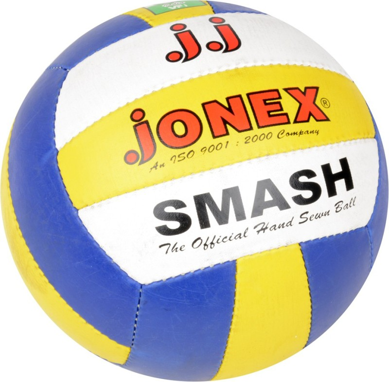 JJ Jonex Smash Volleyball -   Size: 5,  Diameter: 22 cm(Pack of 1, Blue, White, Yellow)