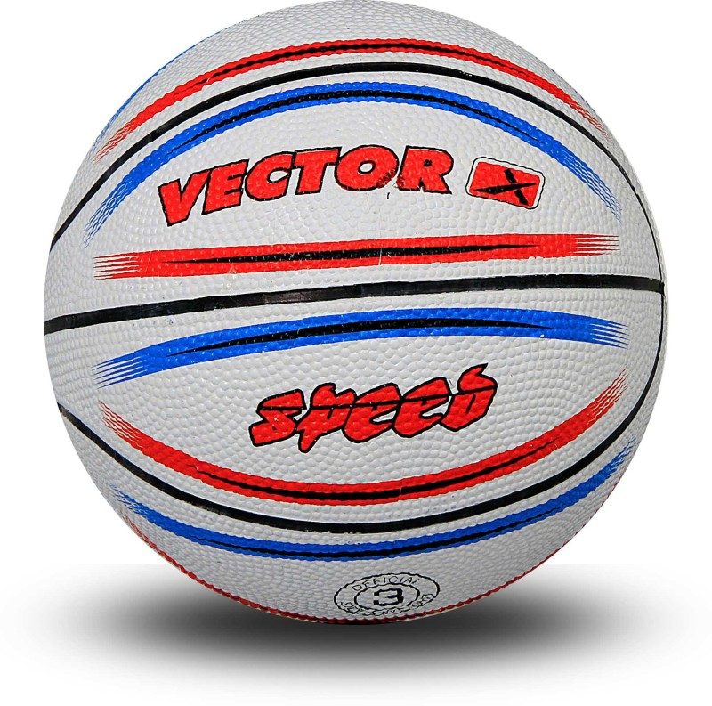 Vector X Speed Basketball -   Size: 3,  Diameter: 57 cm(Pack of 1, White)