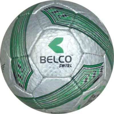 Belco SWIRL3 Football - Size: 5, Diameter: 22 cm(Pack of 1, Silver, Green)