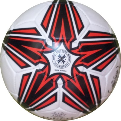 Hikco Red Shooting Star Football -   Size: 5,  Diameter: 24 cm(Pack of 1, Red)