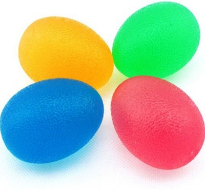 acco Egg Shaped Hand Exerciser Ball (Set of 4) Handball -   Size: 0,  Diameter: 2 cm