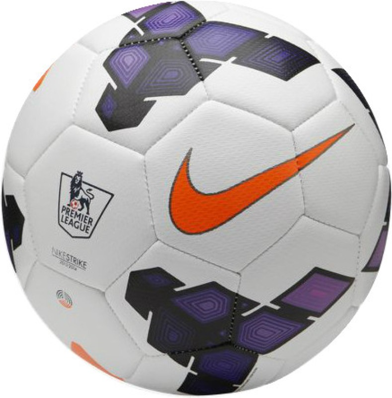 Nike Strike PL Football - Size: 5(White, Purple)