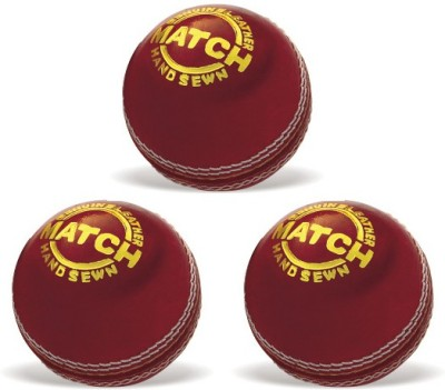 Vinex Cricket Ball - Match (Pack of 3 Pcs) Cricket Ball -   Size: 5,  Diameter: 23 cm