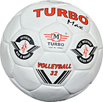 TURBO MAX (ALL WHITE) Volleyball -   Size: 4,  Diameter: 68.5 cm
