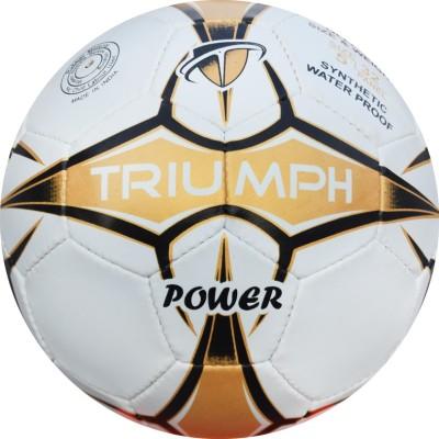 Triumph Power White/Gold Football -   Size: 5,  Diameter: 22 cm