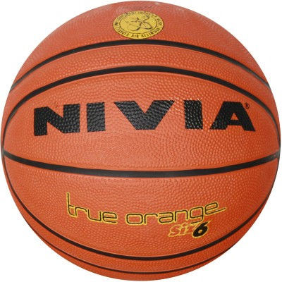 Nivia True Orange Basketball -   Size: 6,  Diameter: 2.5 cm(Pack of 1, Orange, Black)