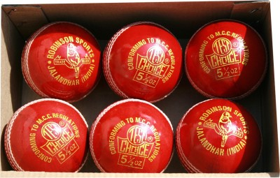 RS Robinson Test Choice Cricket Ball -   Size: 3,  Diameter: 7.5 cm