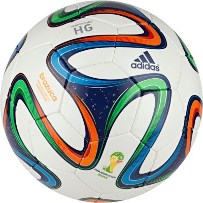 Adidas Brazuca Hard Ground Football - Size: 5(Multicolor)