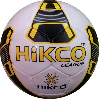 Hikco League Yellow Football - Size: 5, Diameter: 25 cm(Pack of 1, Yellow)