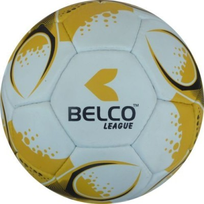 Belco LEAGUE 2 Football - Size: 5, Diameter: 22 cm(Pack of 1, Yellow, Black, White)