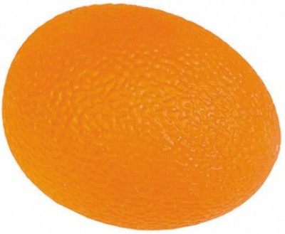 acco Egg Shaped Hand Exerciser Ball -Orange(Firm) Handball -   Size: 0,  Diameter: 2 cm