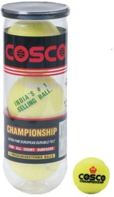 Cosco Championship Lawn Tennis Ball -   Size: Standard,  Diameter: 6.5 cm