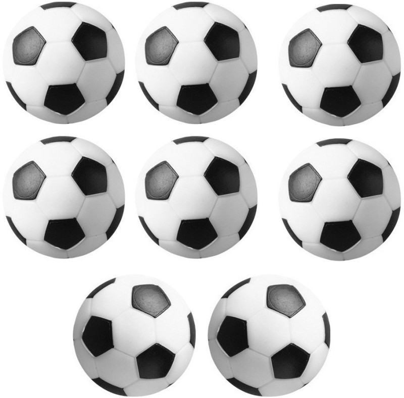 Play City Football, Soccer Table Balls Foosball -   Size: 32 mm,  Diameter: 3.2 cm(Pack of 8, Black, White)