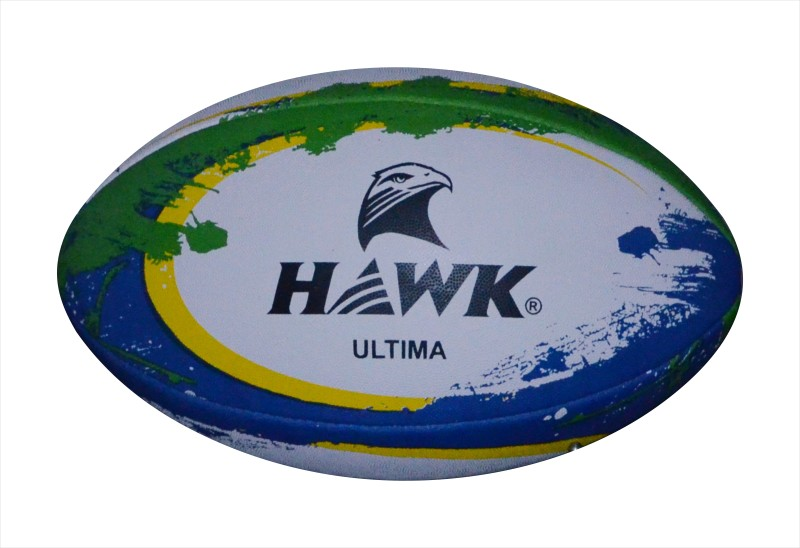 HAWK Ultima, 4 Ply, Rugby Ball -   Size: 5,  Diameter: 24 cm(Pack of 1, White)