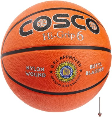 Cosco Hi-Grip Basketball -   Size: 6,  Diameter: 24.2 cm