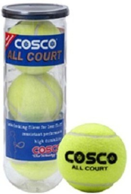 Cosco all court (pack of 3) Tennis Ball - Size- standard, Diameter- 2.5 cm