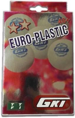GKI Euro Plastic Ping Pong Ball - Size- 40+, Diameter- 4 cm