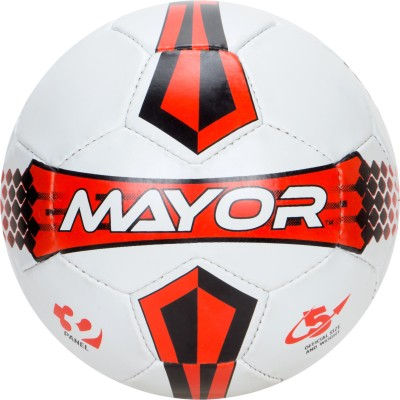 Mayor Pitch Football - Size: 5, Diameter: 22 cm(Pack of 1, Multi Colour)
