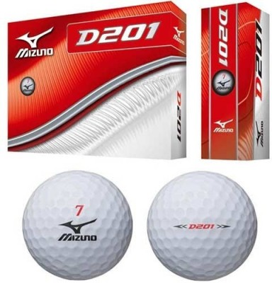 Mizuno D201 Golf Ball- 1 Dozen Golf Ball -   Size: 1,  Diameter: 4 cm(Pack of 12, White)