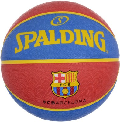 Spalding Euro Barcelona Basketball - Size: 7, Diameter: 30 cm(Pack of 1, Red, Blue)