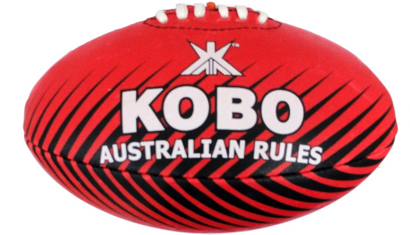 Kobo Australian Rugby Ball -   Size: 5,  Diameter: 16 cm(Pack of 1, Red)