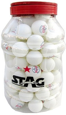 Stag Two Star Ping Pong Ball(Pack of 72, White)